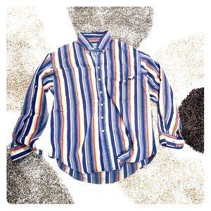 VNTG Woolrich all cotton button up camp shirt XL